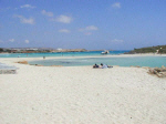 The famous Nissi Beach at Ayia Napa in Cyprus