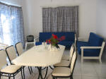 House to rent for holidays on govenors beach in Cyprus - dining room
