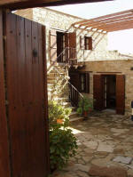 Here is the entrance to Cleris house, available for your agrotourism holiday in Tochni.