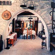 Papadopoulos House in Vavla has a traditional dining room. - click to enlarge.