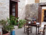 The courtyard of Ninas house is ideal for dining al-fresco.