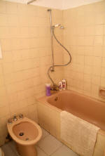 Each apartment has a bathroom with a bath, toilet, bidet and wash basin as well as an extra guest toilet.