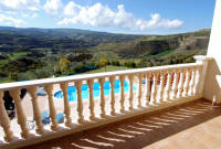 Views over the mountains and countryside from this villa in Skouli for holiday rental in Western Cyprus.