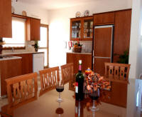 Dining room in a villa in Skoulli near Polis for holiday rental in Cyprus.
