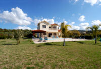Self catering holkiday villa with large garden, set in orange groves in Cyprus