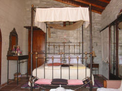 The bedroom of the Superior apartment at Stratos House in Cyprus