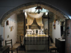 A Romantic bedroom at Stratos House in Cyprus