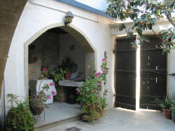 The courtyard at Stratos House in Cyprus