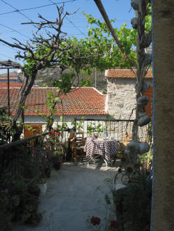 A verandah where you can enjoy the lovely Cypriot air at Stratos House
