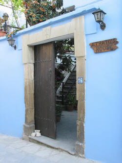 This is where you would enter Stratos House in Cyprus