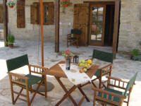 Yasmini villa in Tochni in Cyprus - Part of the Agrotourism project - a carefully restored self catering villa for your holiday rentals in Cyprus - The courtyard